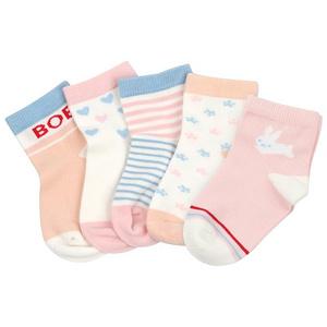 巴布豆 儿童保暖棉袜5双装