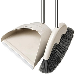 家用除尘不锈钢杆软毛塑料扫把