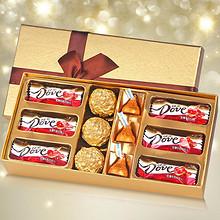 浪漫惊喜# 德芙 巧克力圣诞节礼盒装 13.8元包邮(33.8-20券)