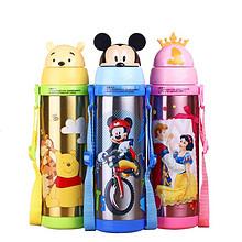 安全卫生# 迪士尼 儿童不锈钢保温杯380ml 39元包邮(79-40券)