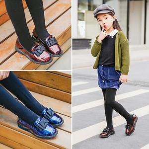 大东 春季新款女童漆皮公主鞋