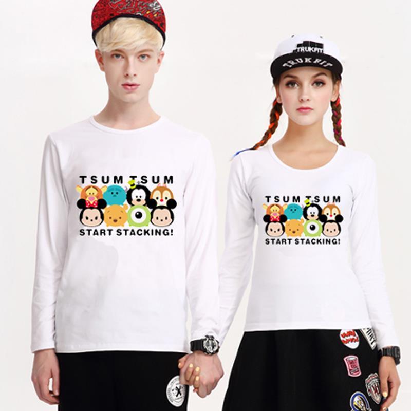 手慢无# 情侣高品质莱卡棉圆领长袖T恤 5.9元包邮(25.9-20券)
