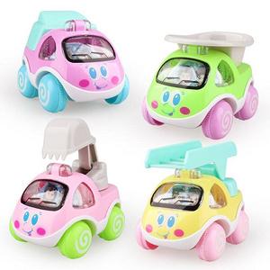 儿童益智卡通惯性小汽车玩具4只