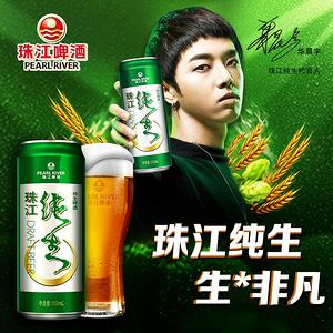 珠江啤酒 纯生500mL*12瓶