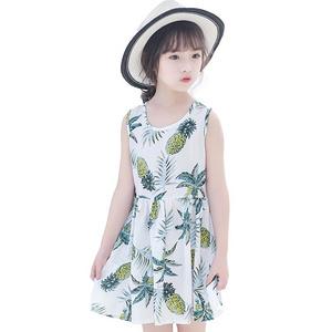 女童夏季时尚经典背心连衣裙