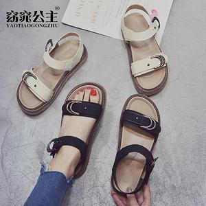 窈窕公主 女韩版罗马复古凉鞋