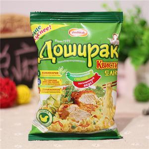 俄罗斯非油炸牛肉方便面70g*10袋