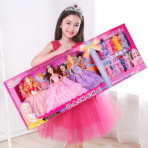 女孩玩具芭比娃娃套装婚纱大礼盒