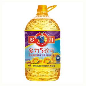 多力 5珍宝非转基因葵花籽油5L