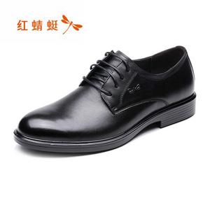红蜻蜓男鞋春秋新款真皮单鞋