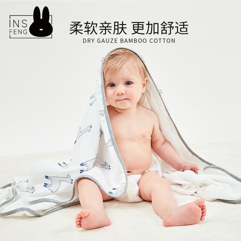 insfeng 新生儿夏季纱布竹棉包巾