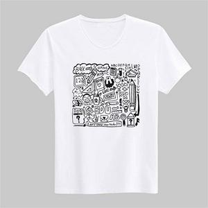 纯白色纯棉圆领短袖空白T恤DIY广告衫
