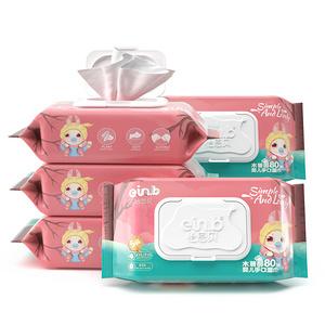 【爆款必搶】!嬰兒濕巾80抽*5包
