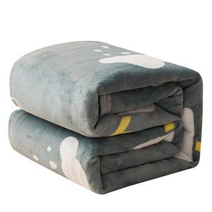 【到手3.6】冬季盖腿法兰绒毛毯床单