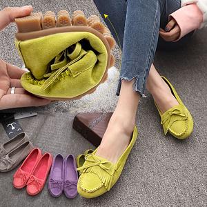 【利进鞋类旗舰店】女士浅口牛筋底豆豆鞋