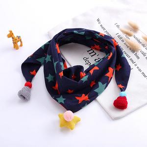 儿童秋冬百搭三角围巾