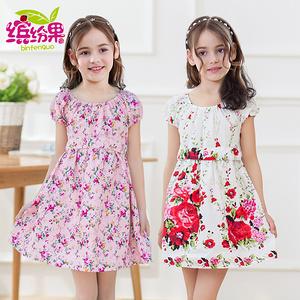 【繽紛果】新款中大童純棉連衣裙
