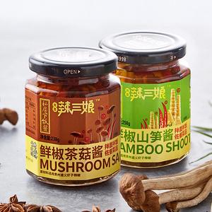 辣三娘鲜椒山笋+茶菇私房下饭菜(2瓶装)