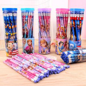 迪士尼 30支桶装HB带皮头铅笔