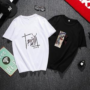 【 13个颜色】纯棉情侣印花短袖T恤