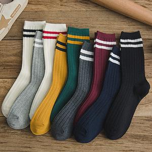 【青棉人】日系学院风中筒堆堆袜4双