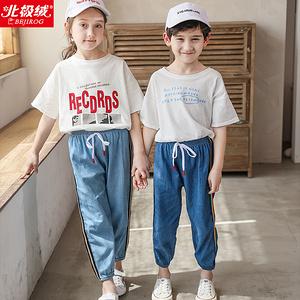【北極絨】春夏兒童100%純棉仿牛仔童褲