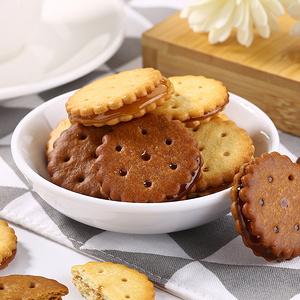 拍4份【網紅同同款咸蛋麥芽夾心】餅干