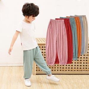 【迪士尼】男女儿童防蚊裤薄款夏季长裤