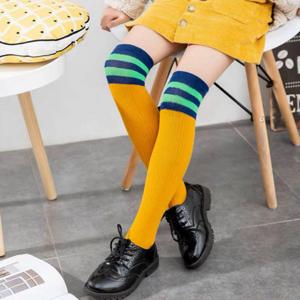 【品质优选】儿童纯棉中筒过膝袜2双