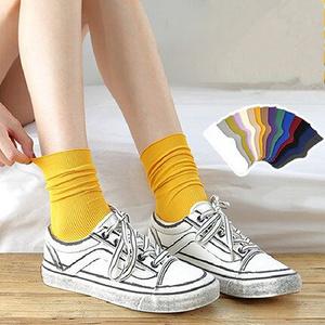 【加兹尼】复古文艺中筒袜5双装