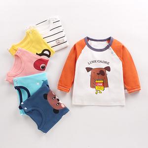 2件再减5元【天猫A类纯棉】儿童长袖T恤