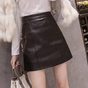 優質PU皮!a字小皮裙顯瘦半身裙