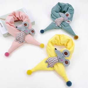 韩版保暖儿童小老鼠围巾