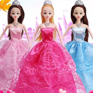 【88件套】仿真女孩芭比洋娃娃禮盒