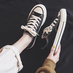 【雅鹿旗舰店】百搭帆布鞋女运动鞋