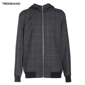 TRENDIANO 男士休闲连帽格子卫衣外套 139元包邮(149-10券)