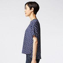 UNIQLO 优衣库女装印花短袖衬衫 39元