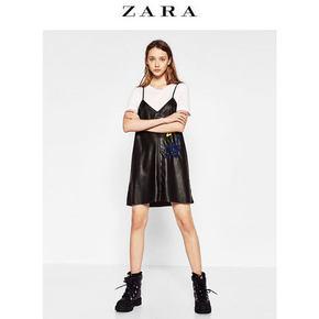 ZARA TRF 女衬衫式刺绣连衣裙 99元包邮