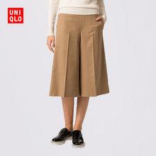 UNIQLO 优衣库 女士羊毛混纺阔腿裤  59元