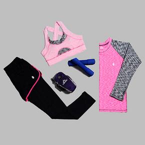 秋冬瑜伽服运动套装跑步服三件套 46元包邮