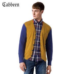 Cabbeen 卡宾 纯棉开衫男士针织外套 59元包邮