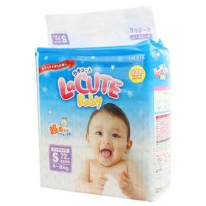 LaCUTE 乐可爱  婴幼儿纸尿裤 S72片 69元