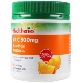 Healtheries 贺寿利 维生素C咀嚼片500mg 200片 折66元(199-100)