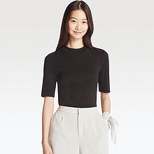 UNIQLO优衣库 女士罗纹高领T恤 59元包邮