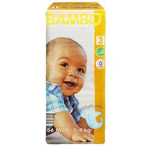BAMBO 班博 绿色生态 婴儿纸尿裤3号 M56片 63.9元
