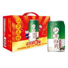 统一 仙草鲜爽 仙草凉茶 植物饮料 310毫升*12罐 19.9元