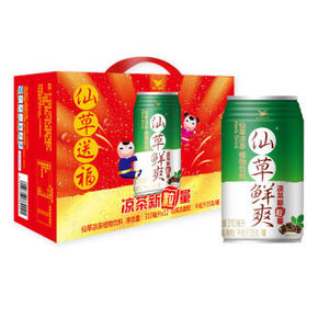 统一 仙草鲜爽 仙草凉茶 植物饮料 310毫升*12罐 19.9元