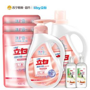 立白 精致丝滑液+立白椰油皂液 40.9元(下单5折)