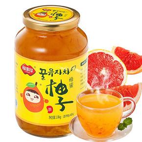 福事多 蜂蜜柚子茶 果味茶罐头 1000g 24.9元