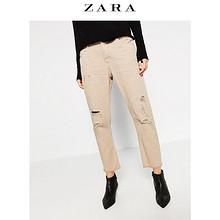 ZARA 女士剪洞中腰长裤 59元包邮